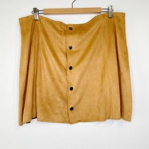 Fashion Union Vegan Suede Mini Skirt XXL